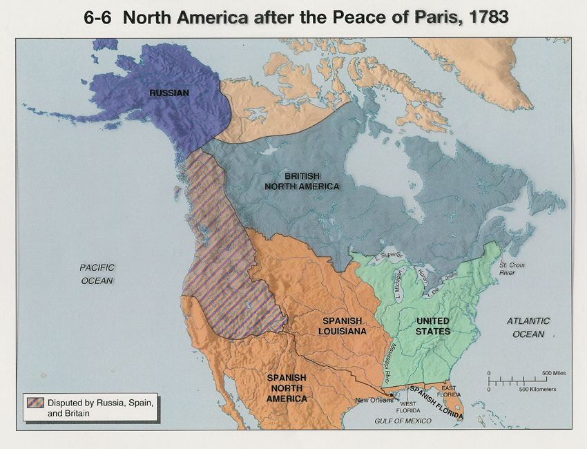 Untitled Document - Map of us after revolutionary war